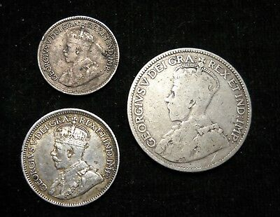 - Canada Sterling Silver King George V Coins.  World - Foreign Silver Coins