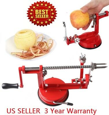 3 in 1 Fruit Apple Peeler Corer Slicer Slinky Machine Potato Cutter Bar Peelers