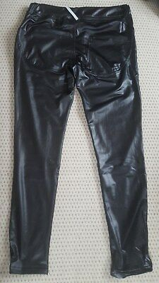 Sexy Damen Leggins in Lack Latex Optik neu Gr 38-40-42  Figur Betonend Dehnbar