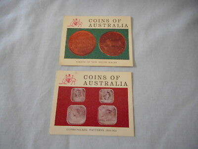 Vita-Brits Collector Cards: Coins of Australia Cards Nos 6 and 22