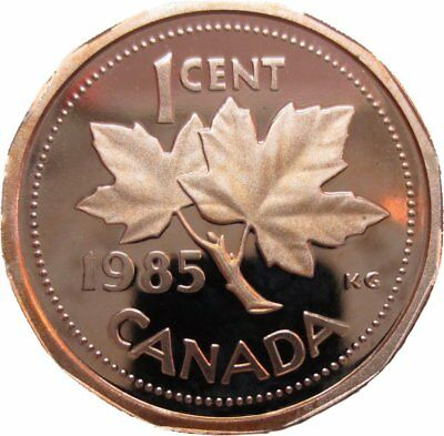 1985 Canada 1 Cent Penny Proof Heavy Cameo