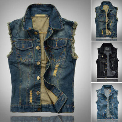 Giacca Punk MOTOCICLISTA cool casual jeans Bella Vintage gilet senza maniche