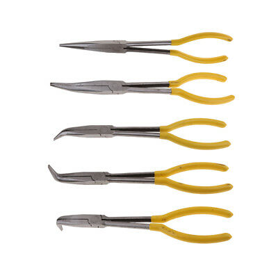 MagiDeal 5pcs Extra Long Nose Needle Pliers Heat Treated Forged Steel