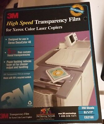 3M High Speed Transparency Film for Xerox Color Laser Copiers