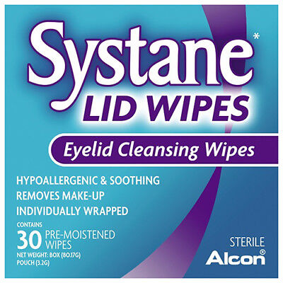 NEW Systane Lid Wipes - 30 Pack