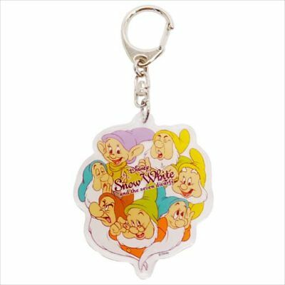 Disney Snow White Seven Dwarfs Acrylic Key Ring Holder Japan