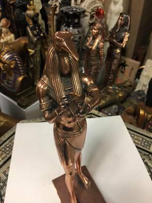 Unique Large  Hand Copper Wash Egyptian God Thoth  Made In Egypt