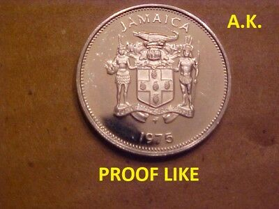 Jamaica 10 Cents 1975 Coin  (PROOF LIKE)