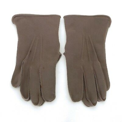 Vintage pair of heavy cotton men's gloves for morning dress/morning suit