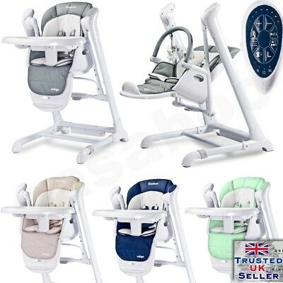 Electrical Swings Baby High Chair Caretero Indigo 2in1 from 1st month New