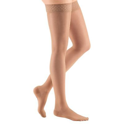 Medi Sheer & Soft Closed Toe Thigh Highs w/ Lace Band - 8-15 mmHg  02501-P