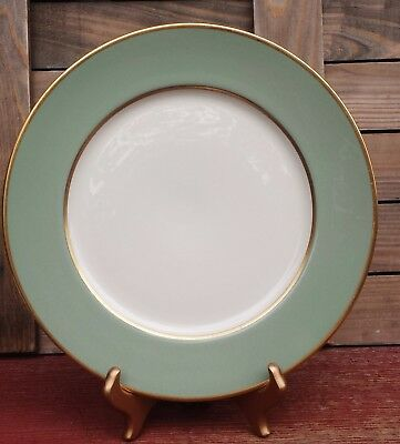 "Vintage Collectible Flintridge China 10-5/8"" Sage Green Dinner Plate"
