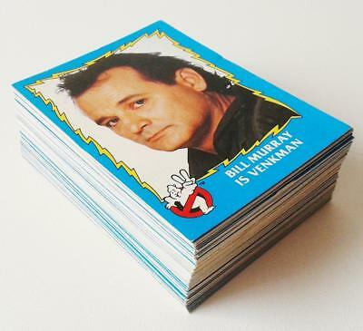 GHOSTBUSTERS II - TOPPS GUM CARDS - INCOMPLETE SET (73/88) original 1989