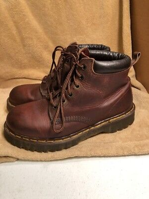The Original DR MARTENS Brown Leather Boots Air Cushion Sole 8 UK 9 US