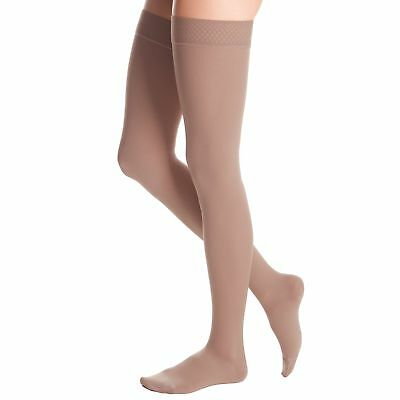 Medi Duomed Advantage Soft Opaque ClosedToe Thigh Highs w/Beaded  AT142P