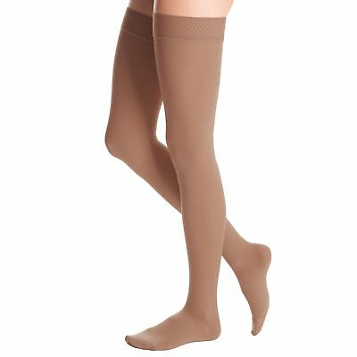 Medi Duomed Advantage Soft Opaque ClosedToe Thigh Highs w/Beaded  AT242P