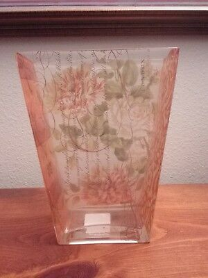 Fringe Studio Floral Transferware Rectangular Vase London Floral