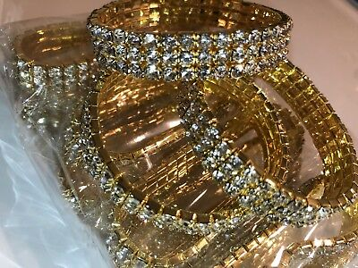 Wholesale 12pieces (Gold color)Diamond Bracelets Fast Shipping New York