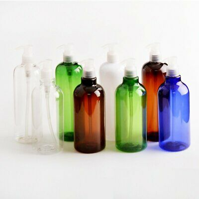 500ml Travel Empty Plastic Bottles For Water Lotion Shampoo Liquid Pump EU