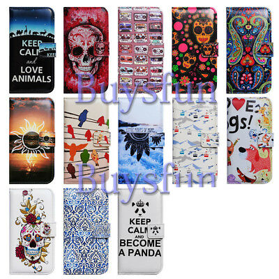 05ae3c15d59af2 Bcov Skull Paisley Mandala Panda Wallet Leather Case Cover For Samsung  Galaxy