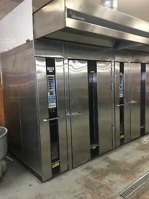 baxter double rack oven gas