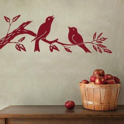Wall Sticker Sparrow on Branch Design Mural Art Home Room Décor Picture