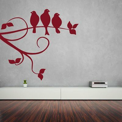 Wall Sticker Sparrows On Branch Design Mural Art Home Room Décor Picture