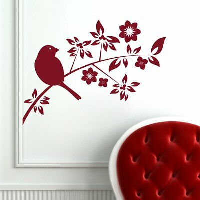 Wall Sticker Sparrow on a Branch Design Mural Art Home Room Décor Picture