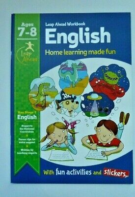 Leap Ahead Home Learning Made Fun Workbook English  Maths age 7-8 with stickers