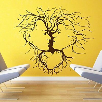 Wall Sticker Couple Abstract Living Room Mural Removable Wall Decals Art