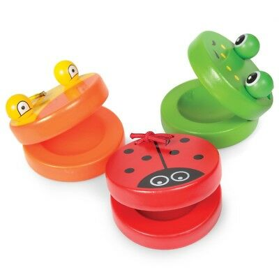 Wooden Castanet Animal Design Musical Instrument Set