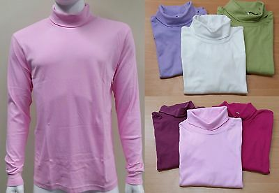 Ladies Long Sleeves Cotton Skivvy Roll Neck Top