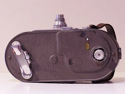 "KEYSTONE 16MM A-7 Old Vintage Movie Camera w/ WOLLENSAK F2.5/1"" Lens circa1940's"