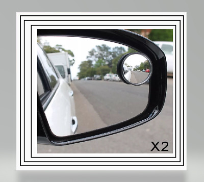 """2x SUMMIT BLIND SPOT MIRROR ROUND ADHESIVE 2/"""" INCH EASY FIT WIDE VIEW ANGLE VAN"""