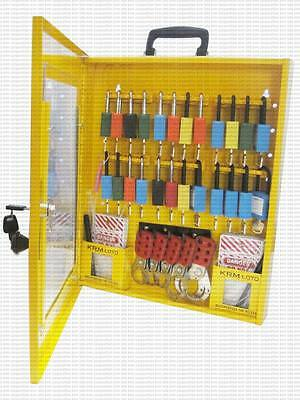 PORTABLE LOCKOUT TAGOUT STATION KRM LOTO - With Material