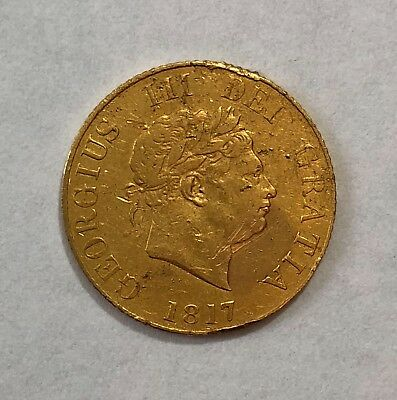 George Iii 1817  Half  Sovereign  #1256-19