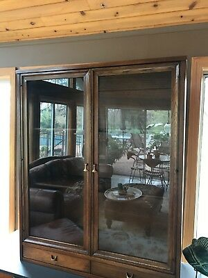 Broyhill Brasilia Mid century Hutch/ Display china cabinet  only Walnut good co