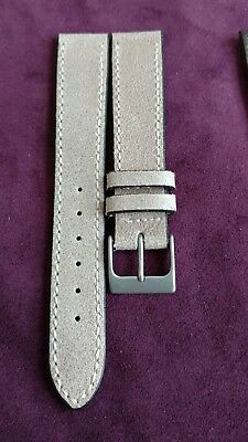 4 LUXURY LEATHER WATCH STRAP LOT of 4 HANDMADE AND TRUE VINTAGE DELUXE