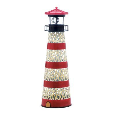 Solar Yard Statues, Metal Lighthouse Outdoor Garden Lights Solar Statue,  Iron
