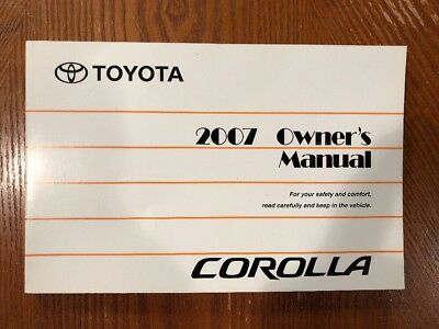 2007 corolla owners manual data wiring diagrams toyota owners manual cover case oem brand new 13 99 picclick rh picclick com 2010 corolla owners manual 2007 corolla owners manual pdf fandeluxe Choice Image