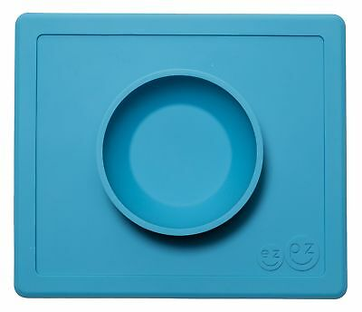 ezpz Happy Bowl - One-piece silicone placemat + bowl (Blue) Fast Free Shipping