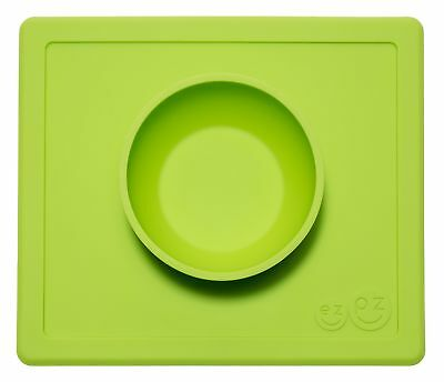 ezpz Happy Bowl - One-piece silicone placemat + bowl (Lime) Fast Free Shipping