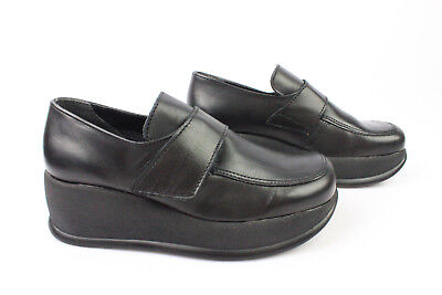 Derby Shoes Platform Wild Zone Made in France Black Leather T 35 Mint