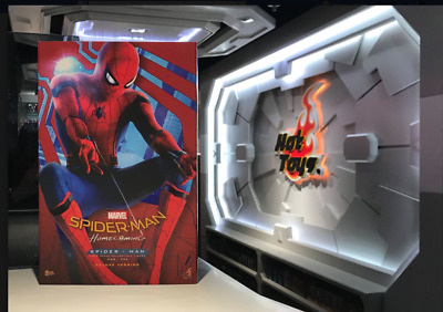 Ready 1/6 Hot Toys MMS426 Deluxe Marvel Spiderman Homecoming Ironman Tom Holland