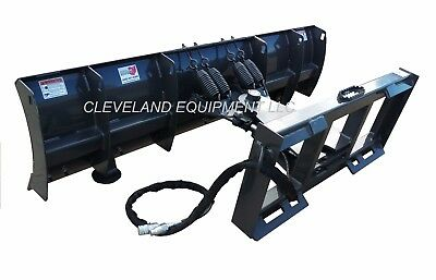 """New 84"""" Manual Angle Compact Tractor / Skid Steer Snow Plow Blade Attachment 7'"""