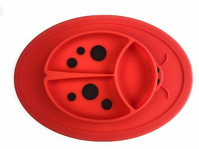 Silicone Mini Placemat for toddlers babies kids - BPA Free - FDA Approved - RED