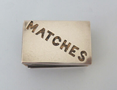 Edwardian 'MATCHES' Solid SILVER Matchbox Cover. Birm 1901. E.S Barnsley