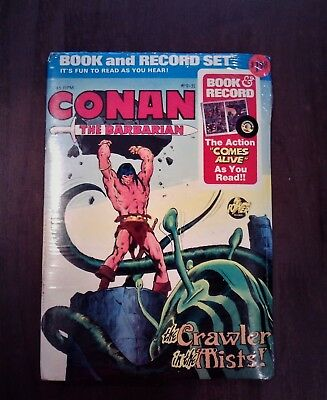 "Conan The Barbarian ""The Crawler in the Mist""  Book and 45 RPM Record (NIP) 1078"