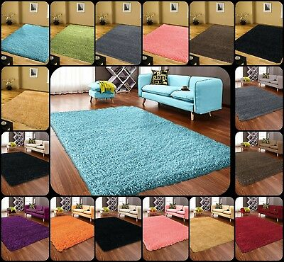 Small And Large Size Bedroom Shaggy Rug Floor Rugs Room Thick Plain Soft Carpet