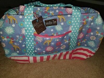 NWT Matilda Jane Winter Fawn Duffel Bag New Tote NEW